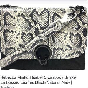 Rebecca minkoff Isabel snake embossed